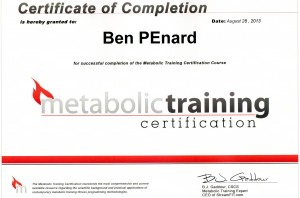 The Metabolic Certification
