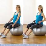 Tirage élastique sur stability ball