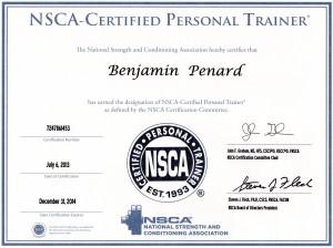 Mon diplôme NSCA
