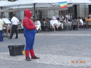 Spiderman perplexe
