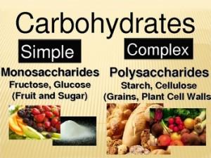 Les carbohydrates simples et complexe