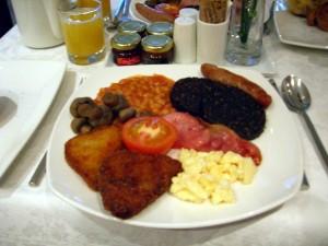 Exemple de petit-déjeuner à l'anglaise