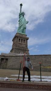 Moi imitant la Statue de la liberté ;)