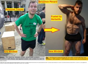 Before-After Benjamin Pénard Herbalife