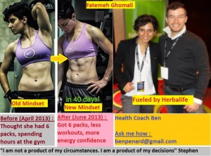 Before-After Fatemeh Ghomali Herbalife