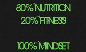 20% fitness + 80% nutrition